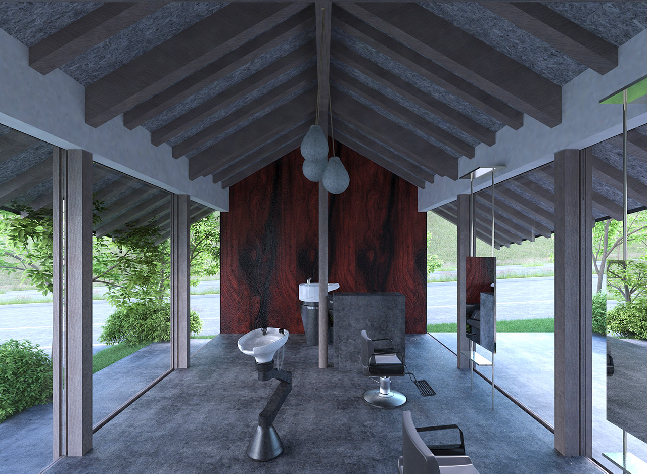 美容室の内観イメージ